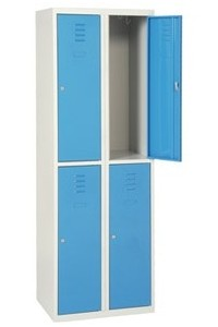 CASIER METALLIQUE SPORT 2 COLONNES 4 PORTES L800