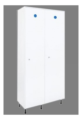 vestiaire casier plastique pvc industrie sale 2 portes